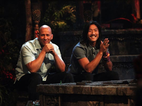 """It came down toTony Vlachos (left) and Yung """"Woo"""" Hwang to win $1 million on the 28th season of CBS's """"Survivor: Cagayan."""""""
