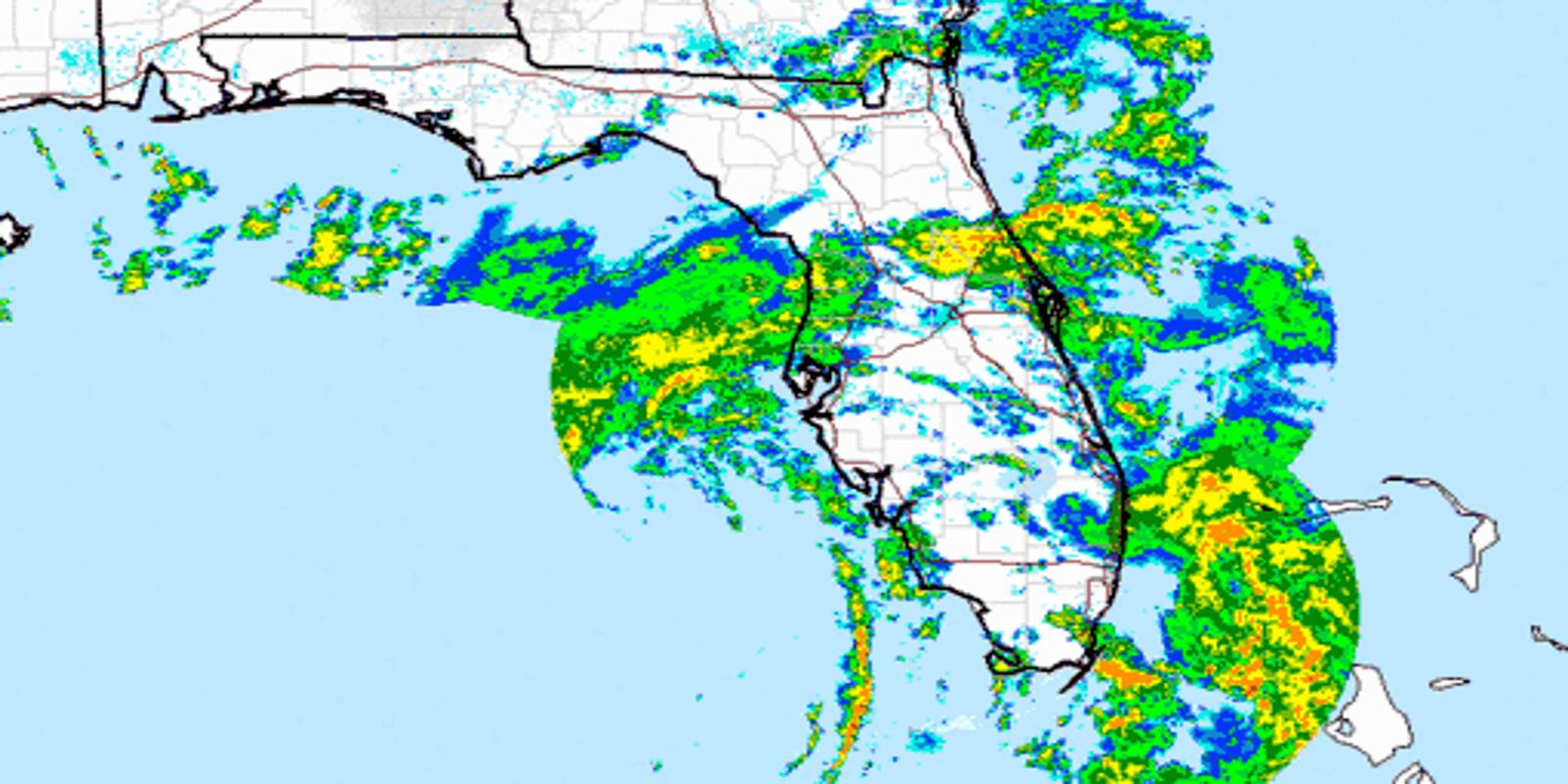 Subtropical Storm Alberto: Melbourne weather radar shows the