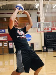 St. Cloud State's new volleyball coach, Chad Braegelmann,
