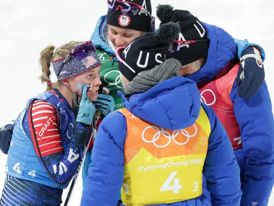 Olympics: Cross Country Skiing-Womens 4 x 5km Relay