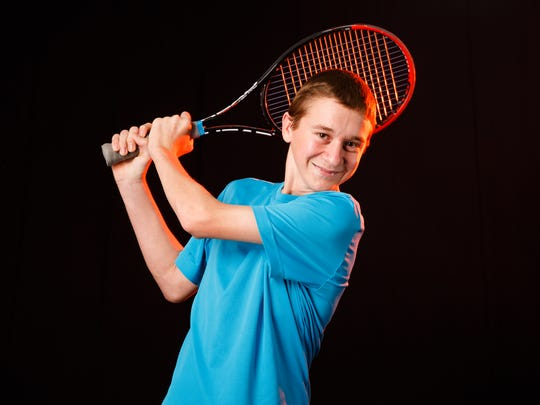 Breaden Brooks, a South Salem High School sophomore, is a finalist for Boys Tennis Player of the Year for the 2018 Statesman Journal Mid-Valley Sports Awards. Photographed at the Statesman Journal in Salem on Monday, May 21, 2018.