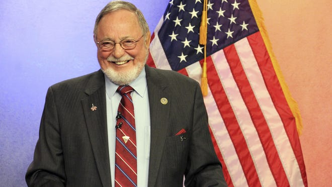 In this Oct. 26, 2018, file photo, U.S. Rep. Don Young, a Republican, is shown prior to a debate, in Anchorage, Alaska.