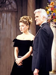 Kelly Ripa and David Canary in scene from 'All My Children'