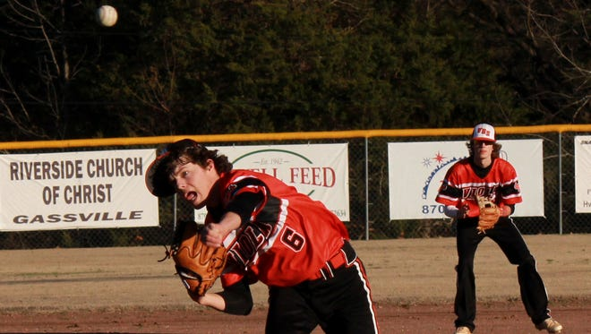 Viola's Dalton Roork pitches against Cotter on Monday at Warrior Field.