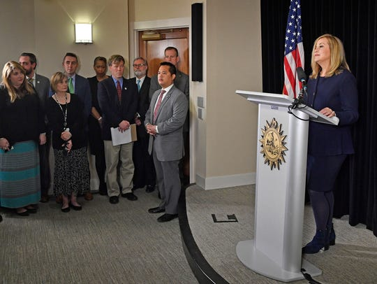 Nashville Mayor Megan Barry announces her resignation