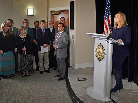 Nashville Mayor Megan Barry announces her resignation