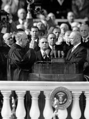 Dwight D. Eisenhower is inaugurated as president as