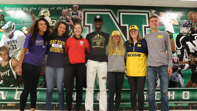 Novi will be sending seven athletes to the collegiate ranks as early fall signees.