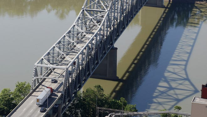 The right northbound lane of the Brent Spence Bridge will close Friday morning.
