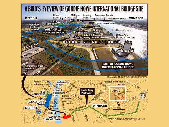 A bird's-eye view of Gordie Howe International Bridge