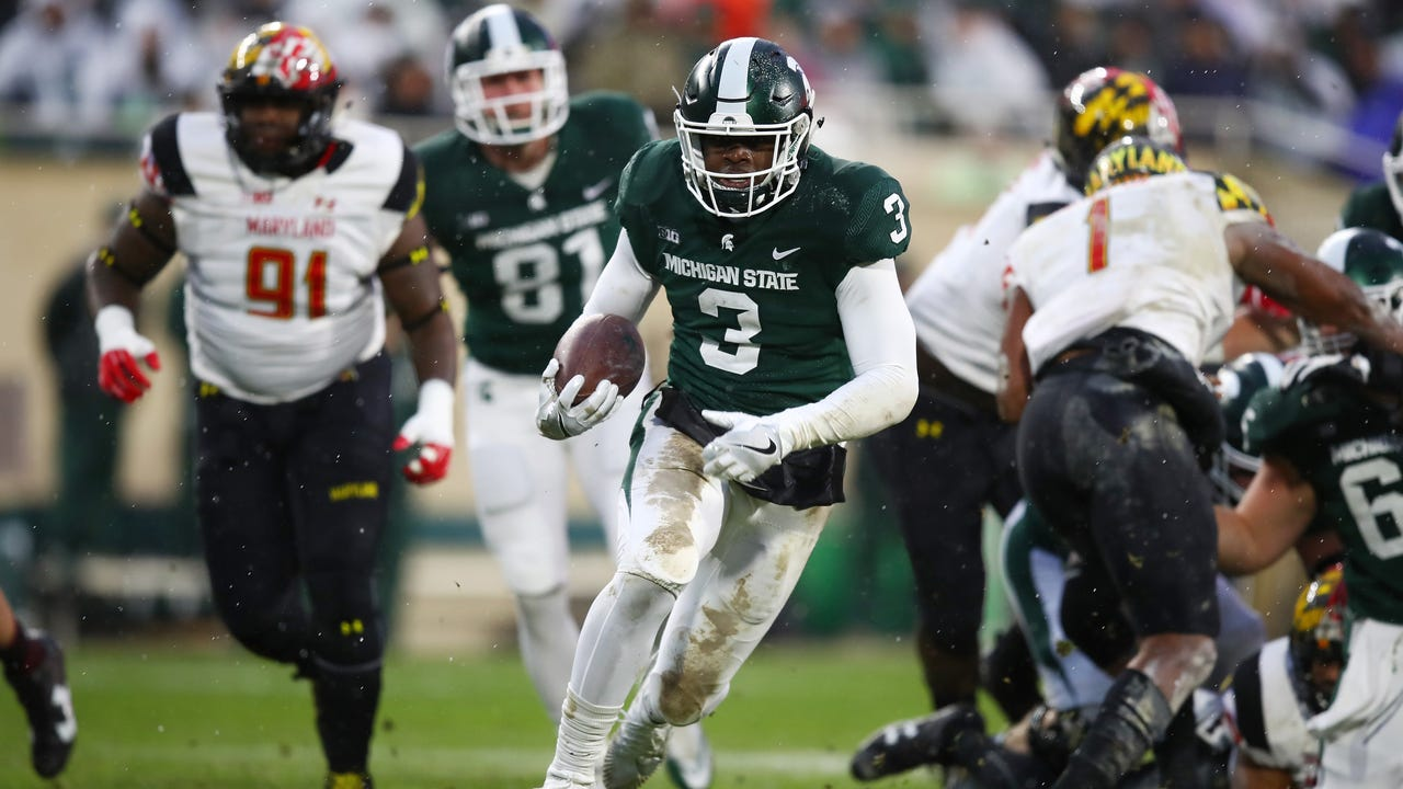 MSU players produced a gritty 17-7 win over Maryland on Saturday, Nov. 18, 2017, to improve to 8-3 on the season. Video by Chris Solari/DFP