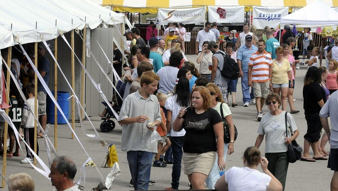 Hundreds packed the lakeside for the Lakeshore Weekend for Kids event in Manitowoc in 2011.