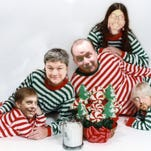 The Reasonably Priced Babies (in their jammies) are, from left, Mondy Carter, Karen Stobbe, Tom Chalmers, Aaron Price and Josh Batenhorst.