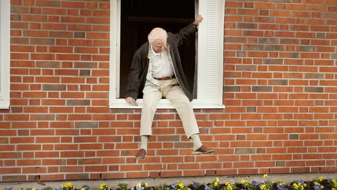 "Allan Karlsson (Robert Gustafsson) has had a remarkable life and more adventures ahead in ""The 100-Year-Old Man Who Climbed Out of the Window and Disappeared."""
