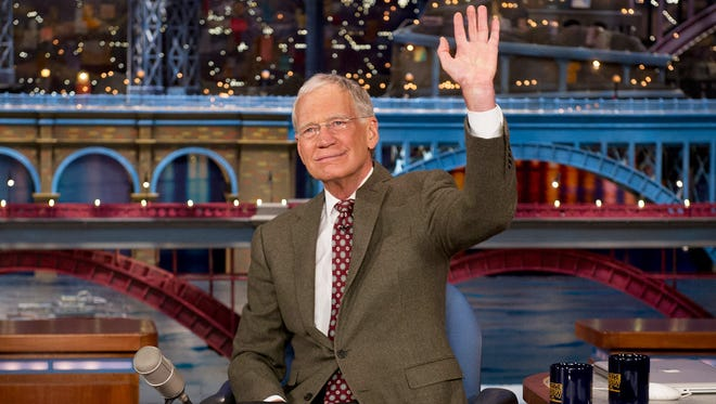 David Letterman announces that he will be retiring from the LATE SHOW with DAVID LETTERMAN on the broadcast tonight, Thursday, April 3 (11:35pm-12:37am, ET/PT) on the CBS Television Network. Photo: Jeffrey R. Staab/CBS �©2014 CBS Broadcasting Inc. All Rights Reserved