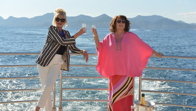 """Sweetie, darling, Patsy (Joanna Lumley, left) and Edina (Jennifer Saunders) move to the big screen in """"Absolutely Fabulous: The Movie."""""""