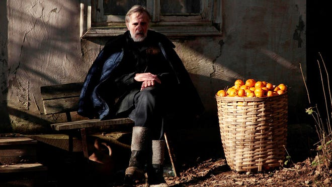"During the war, an Estonian man stays behind to harvest tangerines and cares for wounded soldiers in the movie ""Tangerines."" The film will be shown at the Mother Teresa Center, 2400 E. Yandell."