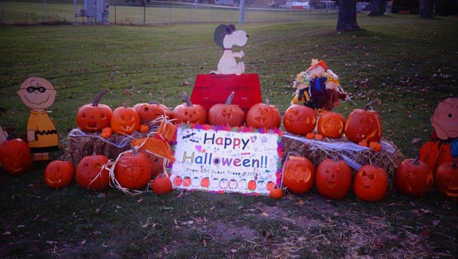The Halloween display created by the girl scouts at the 2016 Jack-O-Lantern Jaunt in Mukowonago.