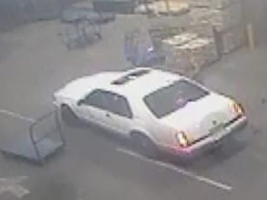 Gallatin police say items stolen from Lowe's were placed into this car by the suspect and a second person.