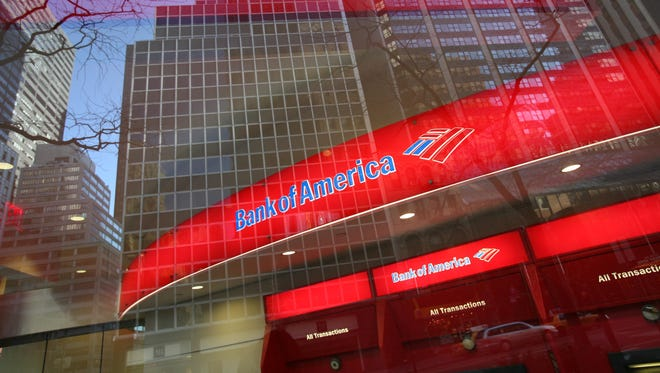 A Bank of America branch office in New York City.