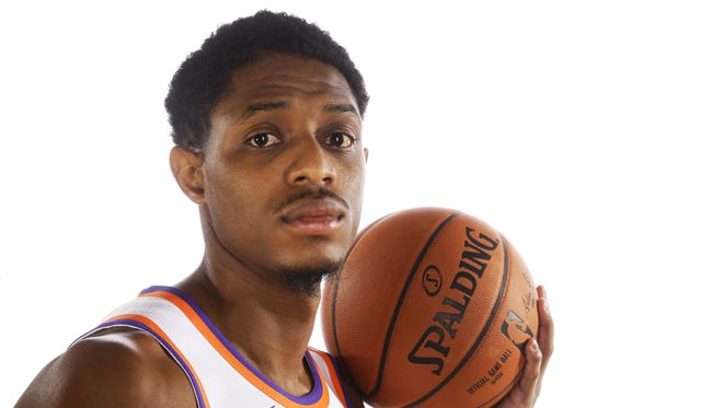 Brandon Knight during Suns Media Day on Sept. 25.