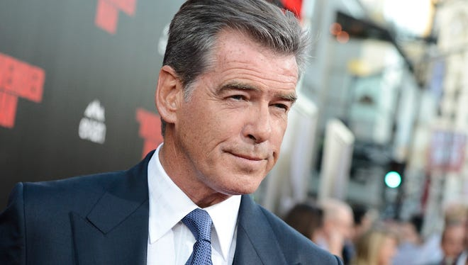 """Actor Pierce Brosnan attends the premiere of the feature film """"The November Man"""" at TCL Chinese Theatre on Aug. 13, 2014 in Los Angeles."""