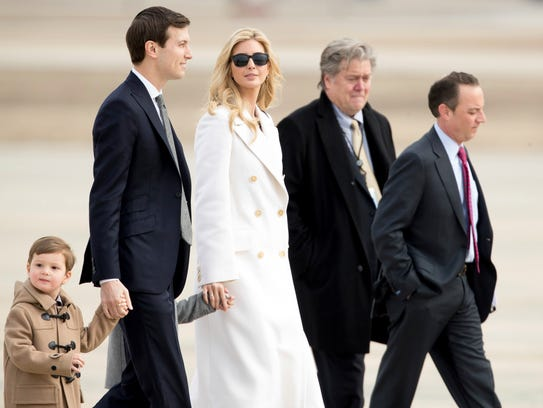 Ivanka Trump, husband, Jared Kushner, two of their