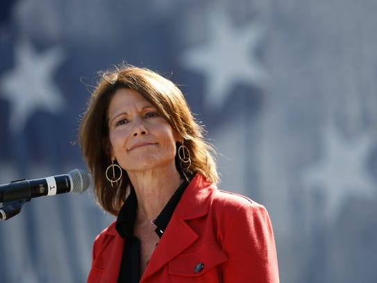 U.S. Rep. Cheri Bustos (D-IL) speaks Saturday, Sept.