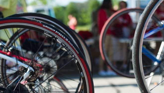 About 700 people participated in the eighth annual ReidRide event in Wayne County on Saturday, July 23, 2016.