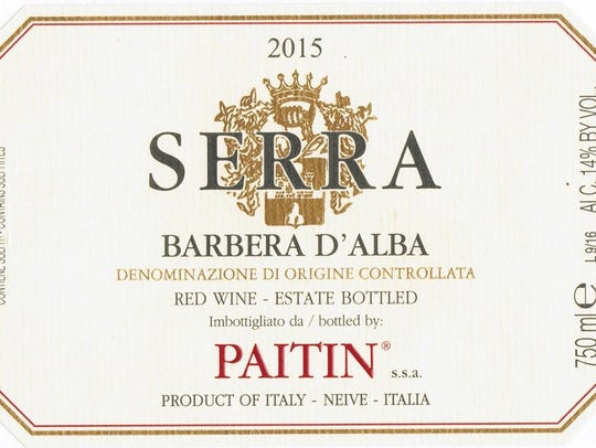 This Barbera goes great with many dishes.