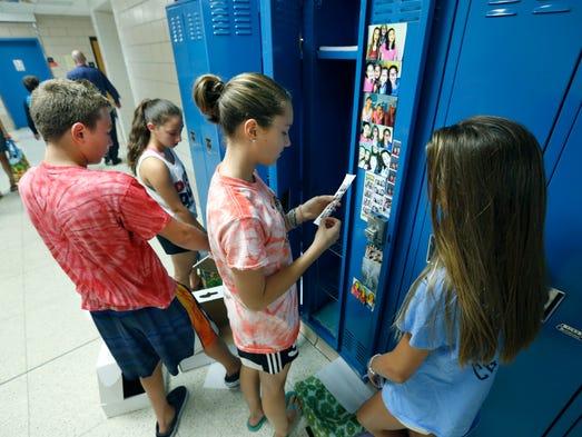 Asian Girl Trapped in School Locker GRPS City Middle Schoo