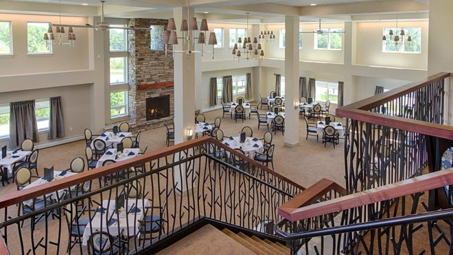Residents of Quarry Hill can choose two meals a day in the residence's large dining room. The residence also offers activities, trips and weekly housekeeping.