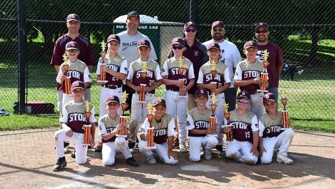 The Stow Bulldogs' age 9-and-younger baseball team recently won the Dueling Dugouts tournament in Canton. The Bulldogs, who entered the playoffs as the last seeded team, defeated the first-, second- and third-seeded teams while avenging both of their earlier losses in the process. Stow concluded tournament play with three consecutive games that lasted nearly eight hours. The Bulldogs won the title with a 31-23 victory over Twinsburg in the championship game. Pictured are, front row, from left: Mason Abernathy, Collin Ports, Matthew Hodge, Ryder Horwath, Kaden Moore and Mason Crawford; middle row: Nolan Guidone, Mason Zigman, Luke Beatty, Owen Huff, Gabe Patterson and Gavin Lindsey; and back row: coaches John Guidone, Rick Moore, Jason Lindsey, Jeff Crawford and Brett Beatty.