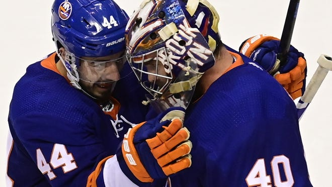 New York Islanders center Jean-Gabriel Pageau, acquired in a trade with Ottawa, and goaltender Semyon Varlamov, added in free agency last summer, hope to help dig their club out of 2-0 hole against the Tampa Bay Lightning tonight in Game 3 of the Eastern Conference final.