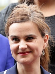 A picture dated 12 May 2016 of British Labour MP Jo Cox, who died after being shot and stabbed in Bristall.