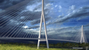 This artist's rendering shows what a cable-stayed bridge