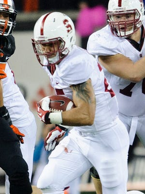 Tyler Gaffney rushed for three TDs to lead Stanford past Oregon State.