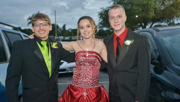 Cocoa High School students enjoy their prom at the Rockledge Country Club.