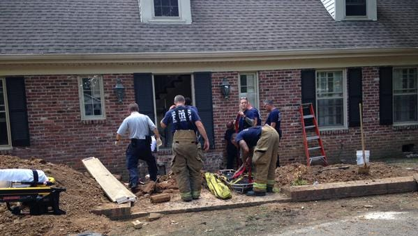 Jackson firefighters and EMS responded to a construction site on Woodhaven Drive where a man was injured this afternoon.