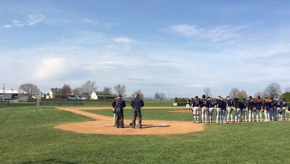 Elco and Lebanon battled to a 6-2 Raiders win on Wednesday at Lyle Krall Field.