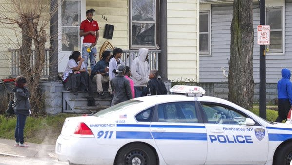 Police investigate stabbing on Bay and Copeland streets early Tuesday morning.