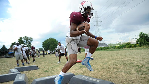 Senior quarterback Jairus Grissom, a three-star prospect, moved to River Rouge from Dearborn Heights Robichaud.