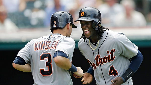 """""""I know (the fans) appreciate effort and they respect when you play hard,"""" says Tigers center fielder Cameron Maybin."""