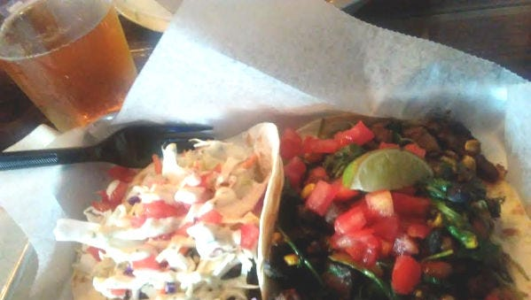 Taco Dive has unusual taco combinations and off-the-wall creations such as bacon cheeseburger and chicken pot pie stuffed in flaky crust.