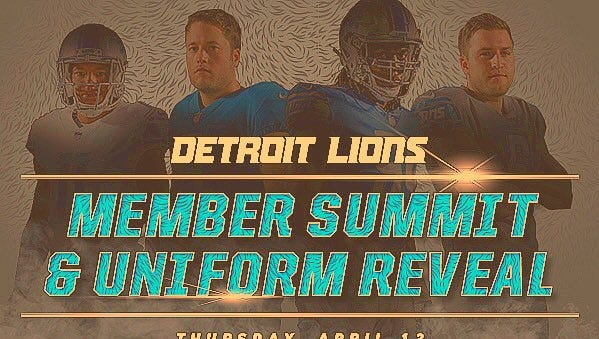 Image of the Lions new jerseys that have been circulating on social media.