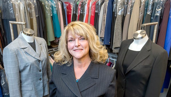 Jones College of Business faculty Dr. Virginia Hemby, Director of Raiders' Closet.