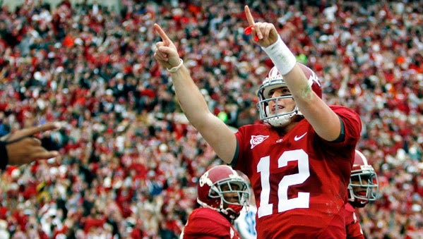 Greg McElroy was the starting quarterback for the 2009 national championship team.