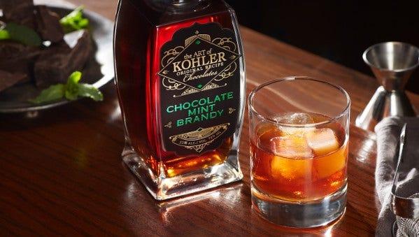 Chocolate mint brandy from the Art of Kohler Original Recipe