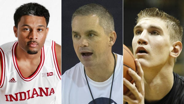 IU freshman James Blackmon Jr., Butler coach Chris Holtmann and Purdue freshman Isaac Haas