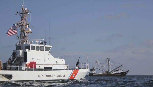 Coast Guard search boat